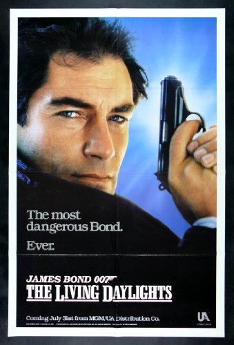 The Living Daylights * CineMasterpieces 1SH Original Movie Poster James Bond