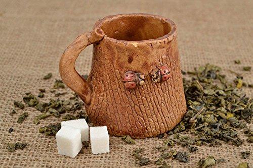 Handmade Ceramic Cup 100 Ml Pottery Mug Stoneware Dinnerware Gifts For Girls ()