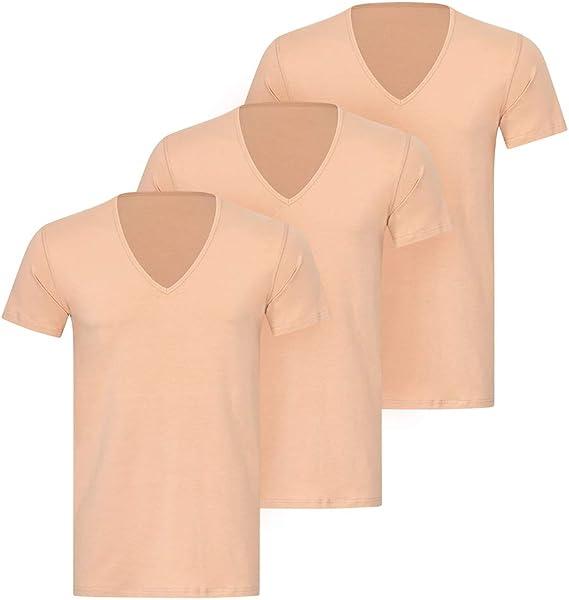 KliSa - 3-Pack - Hombres de Negocios-Camiseta v-Cuello/Invisible ...