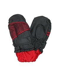 CTM Toddlers Waterproof Winter Mittens, Red