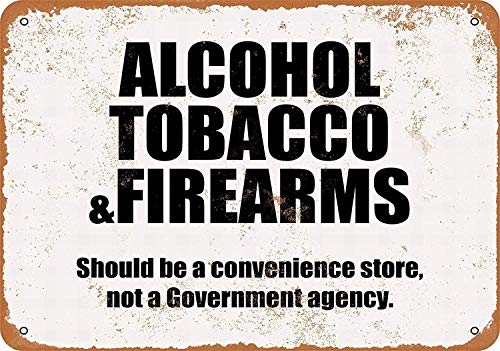 アルコールたばこ銃器 金属板ブリキ看板注意サイン情報サイン金属安全サイン警告サイン表示パネル