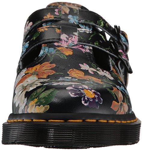 8065 Martens Floral Chaussures Darcy Femmes Backhand Dr Noir 4vpqq