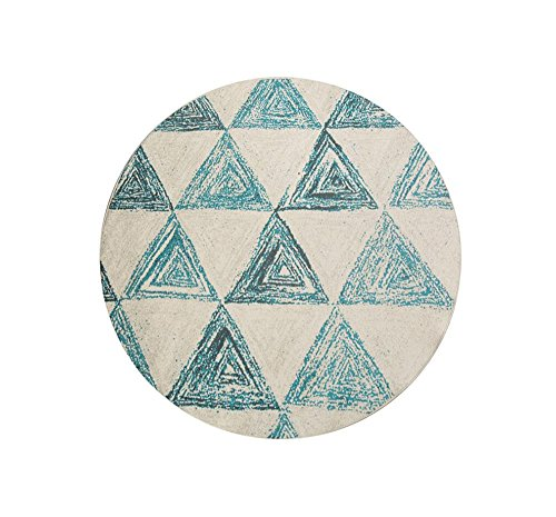 Round Diameter 6mm Carpet / Scandinavian Decorative Geometric Pattern Round Carpet / Living Room Study Hooks Bedroom Floor Mat / Non-slip Thicker Carpet ( Size : 200200cm ) by XIN-Carpet