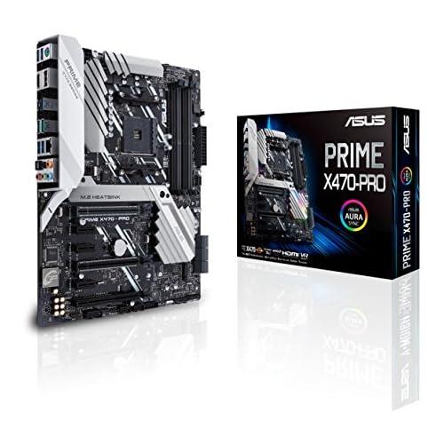 chollos oferta descuentos barato Asus PRIME X470 PRO AMD AM4 X470 ATX Placa con M 2 heatsink DDR4 3600MHz dual M 2 HDMI SATA 6Gbps y USB 3 1 Gen 2 conector panel frontal