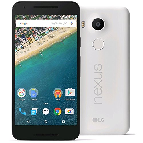 LG Google Nexus 5X 5.2'' 32GB 4G LTE Smart Phone Android H791 (Certified Refurbished) (White) by LG