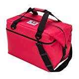 AO Coolers Canvas Soft Cooler with High-Density Insulation, Red, 48-Can