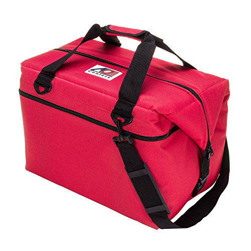 AO Coolers Canvas Soft Cooler with High-Density Insulation, Red, 48-Can by AO Coolers
