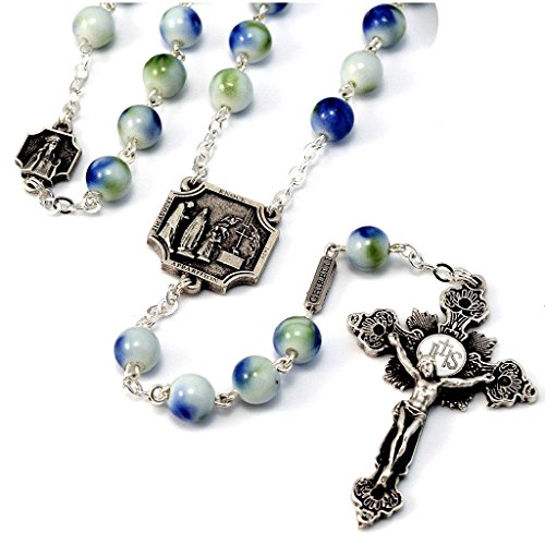 Our Lady of Knock Shrine Official Rosary in antique silver plated finish by Ghirelli - 14129