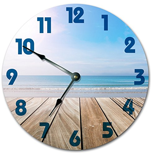 51eCEX2duhL The Best Beach Wall Clocks You Can Buy