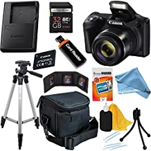 Canon Powershot SX420 IS 20 MP Wi-Fi Digital Camera with 42x Zoom (Black) Includes: Canon NB-11LH Battery & Charger + 9pc 32GB Deluxe Accessory Kit w/ DigitalAndMore Microfiber Cloth