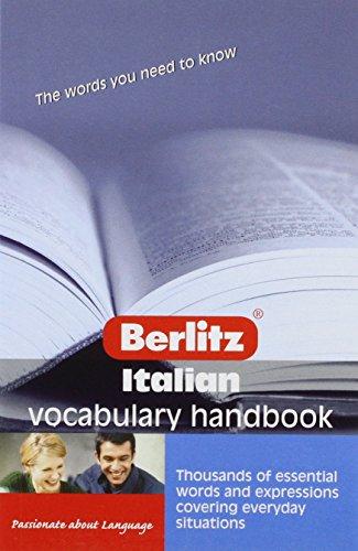 Italian Vocabulary Handbook (Handbooks)