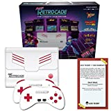 Retro Bit Super RetroCade Plug & Play Classic HD Game Console with HDMI Port - Preloaded with over 90 Popular Arcade and Console Titles like Mega Man 2, Joe & Mac (Red/White) - For NES, SNES