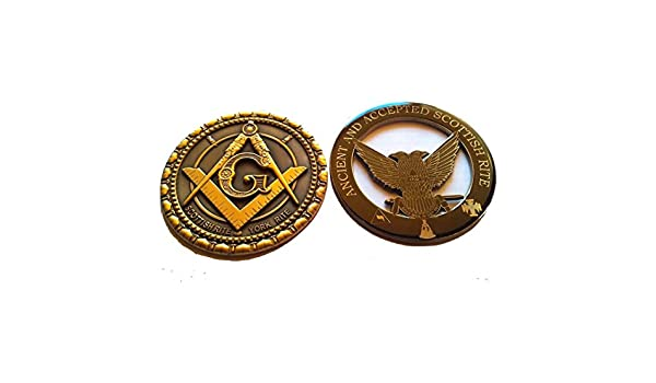 Masonic Metal Chrome 32nd Degree wings down auto Car decorative Emblem Equinox Masonic Regalia