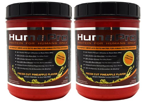 2 x ALRI HumaPro Pineapple 90sv (2 tubs (180 Total Servings)) by ALR INDUSTRIES