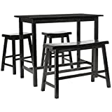 Safavieh American Homes Collection Galway Dark Espresso Oak 4-Piece Pub Set For Sale