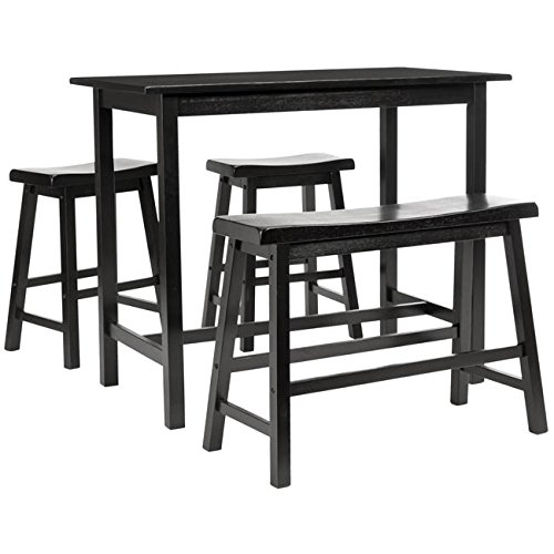 Safavieh American Homes Collection Galway Dark Espresso Oak 4-Piece Pub ()