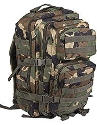 Mil-Tec Military Army Patrol Molle Assault Pack Tactical Combat Rucksack Backpack Bag 36L Woodland Camo