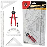 6 Pcs Ferocious Viking Geometry Compass Geometry Set for School Deal (Small Image)