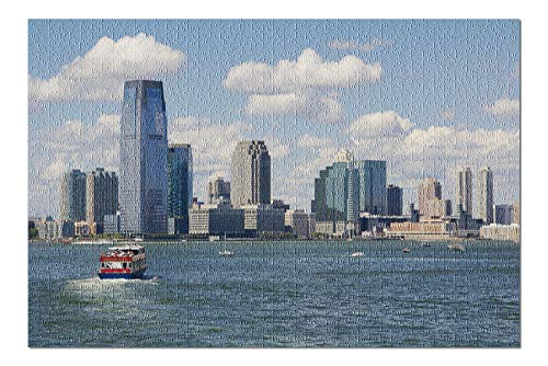 Jersey City, New Jersey - View of Skyline from Water - Photography A-96544 96544 (20x30 Premium 1000 Piece Jigsaw Puzzle, Made in USA!)