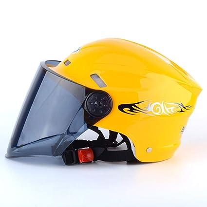YSH Casco De Moto Casco Casco De Equitación Casco De Verano Verano Unisex Helmet,Yellow