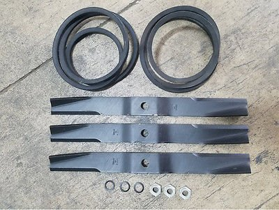 Caroni TC590 5' Finish Mower Kit, (3) Blades, (2) Belts, (3) Nuts and  Washers