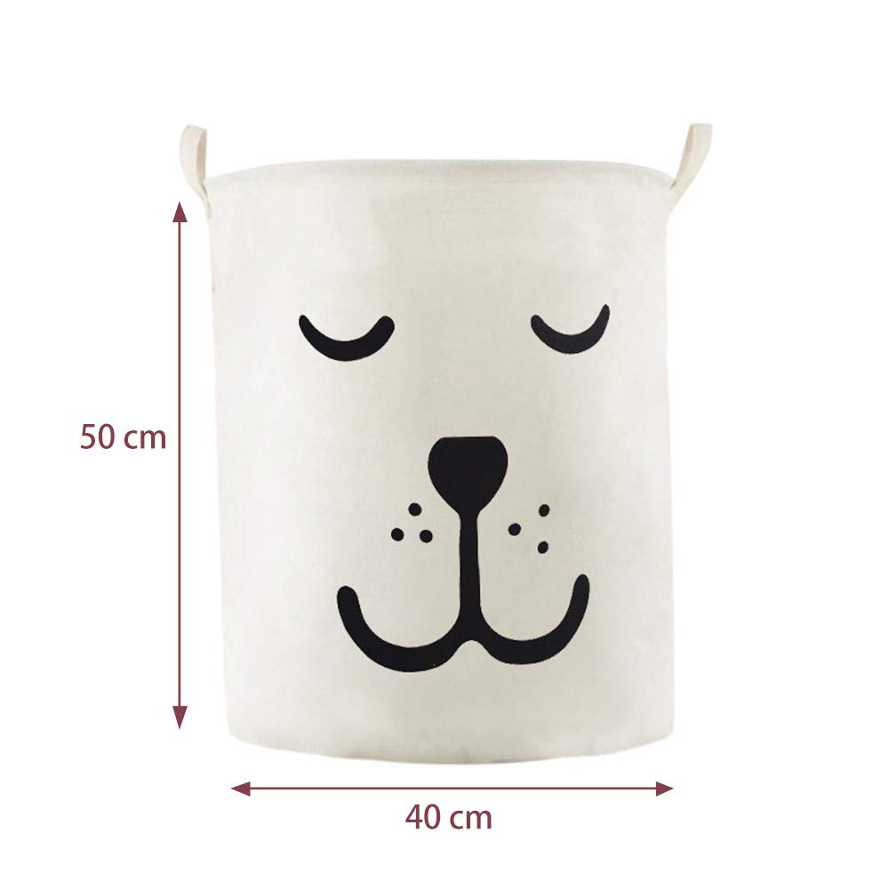 SUJING Laundry Basket Laundry Foldable Large Hamper Cylinder Collapsible Kids for Clothes and Toys Organizer Storage Clothes Holder Laundry Bag E