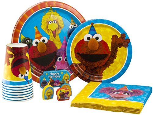 Sesame Street Tableware Pack! Disposable Paper Plates, Napkins, Cups and Candles (Set for 16) (Abby Kids Cadabby Plate)