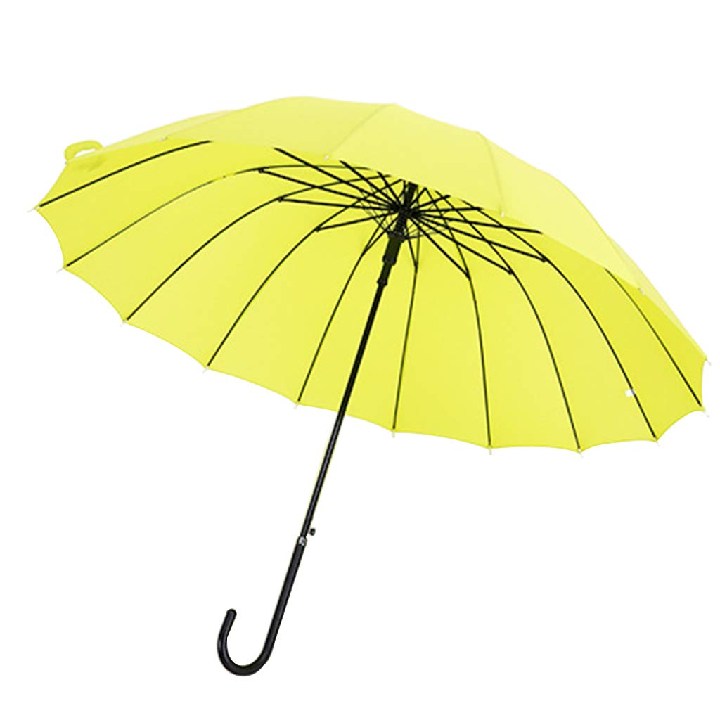 Umbrella Zi yue ju Classic Quality Cane, eco-Friendly Galvanized Steel Frame and Alloy Ribs, Enhanced Windproof J-Handle