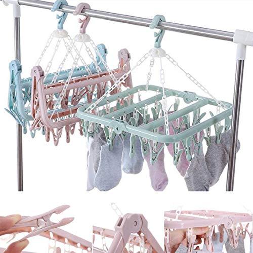 KEBIN Plegables suspensi/ón de Ropa Toallas Ropa Interior Calcetines Tendedero con 32 Clips