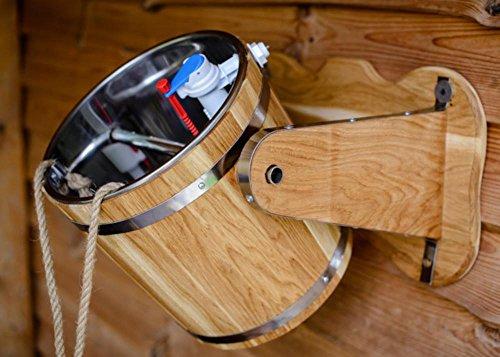 Sauna Ice waterfall bucket, Bath waterfall-bucket, Oak Bucket, Rustic Wooden Bucket, Wash Device. Bath Russian, ice bucket challenge - Waterfall Wine