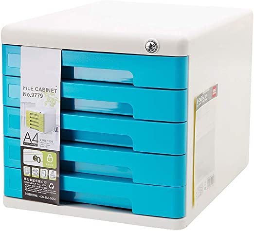 ZCCWJG Archivadores Cajonera de plástico Armario de Escritorio Caja de Almacenamiento Archivador (Color : B): Amazon.es: Hogar