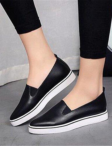 us5 Eu35 exterior Zapatos Cn39 comfort Casual Uk3 Mujer Zq Plano Plata Silver us8 negro semicuero Blanco Rojo tacón Black De Eu39 Uk6 Cn34 mocasines Rq0UwF1K