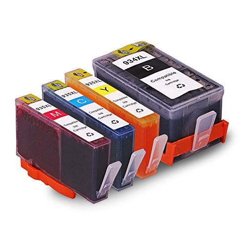 INKUTEN 934XL 935XL Ink Cartridge High Yield Replacements with Updated Chips Compatible with HP OfficeJet Pro 6830 6820 6230 6812 6815 6835 Series Printers (1BK 1C 1M 1Y) 6830 Series