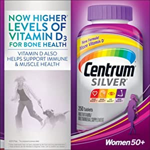 Centrum Silver Women's Pills 50+, 200 Count (Packaging may vary)
