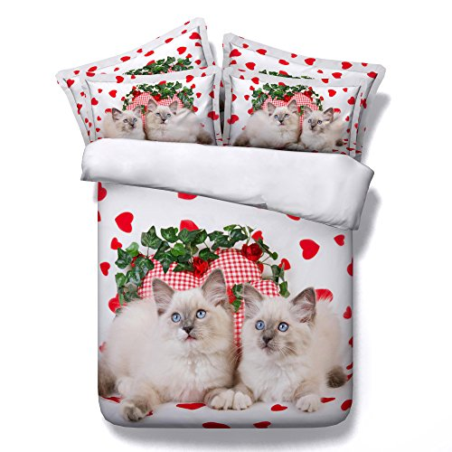 Seiaoing Seiaoing 3d Animal Cats Bedspreads Bedvlothes
