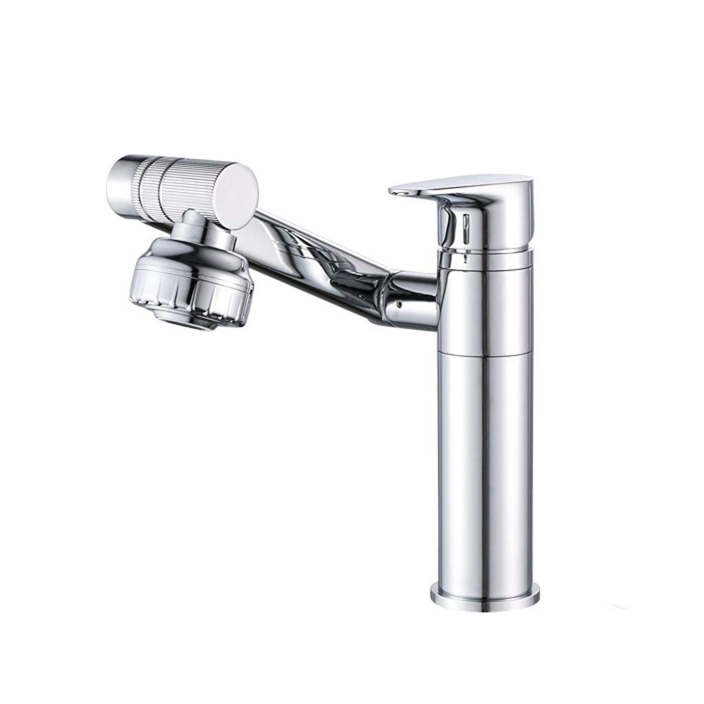 Chrome a Fanxu Bathroom Sink Faucet, Pure Copper redatable Basin Faucet (5 colors, 2 Sizes) (color   gold B)