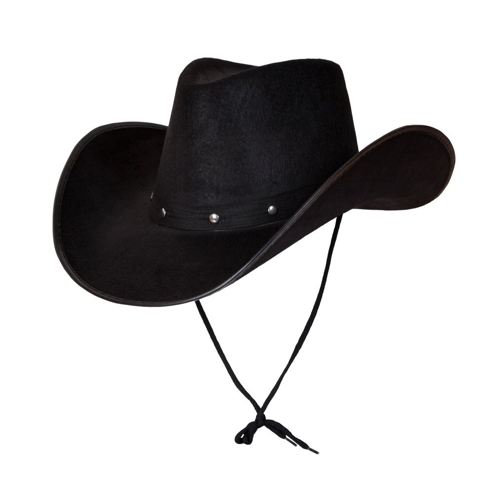 Adult Texan Cowboy Hat Black Fancy Dress Party Accessory Country Western Rancher