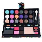 MChoice 26Colors Eye Shadow Makeup Palette Cosmetic Eyeshadow Blush Lip Gloss Powder (Black)