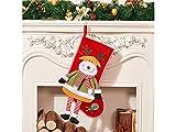Yunqir Creative Christmas Socks Candy Bag Gift Bag Christmas Tree Pendant(Elk)