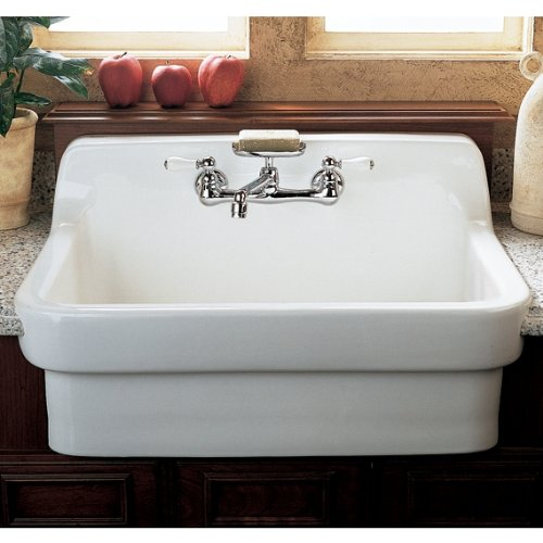 American Standard 9062 008 020 Country Kitchen Sink With 8 Inch Centers White Heat Single Bowl Sinks Com