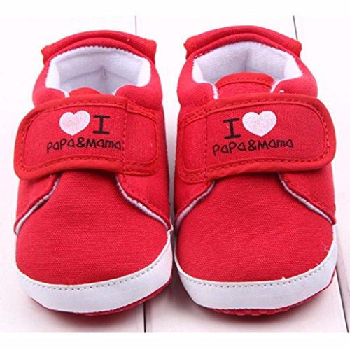 Clode® Neugeborenen Baby Sneaker Anti-Rutsch-Brief Herz drucken weiche Sohle Kleinkind Schuhe Weiß