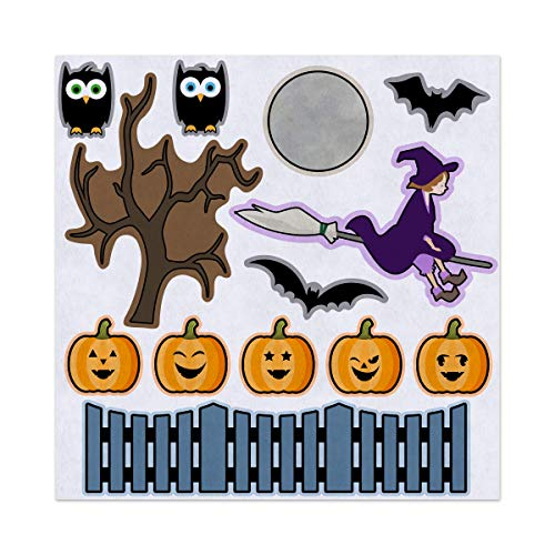 5 Little Pumpkins Halloween Nursery Rhyme Felt Play Art Set Flannel Board Story Storyboard -