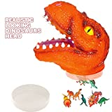 """T-Rax Head Creative Kit by ArtCreativity - Includes 24 Mini Dinosaur Figures in 7"""" Realistic Looking T-Rex Head - Easy Storage & Portability - Great Room, Party Decorations Supplies"""