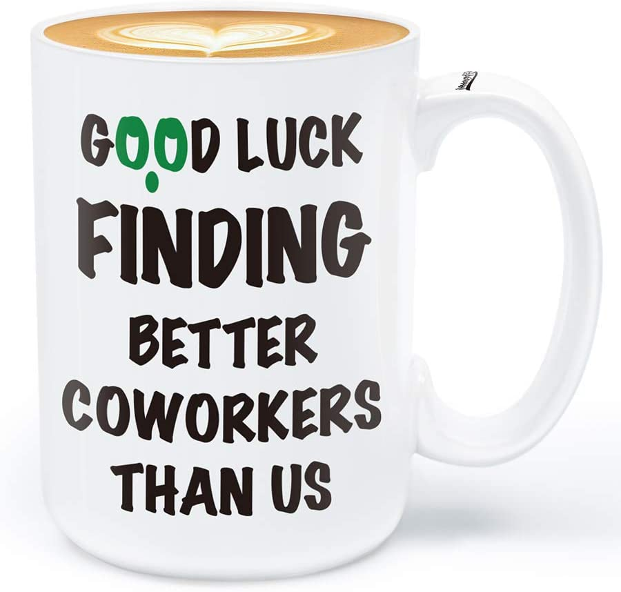 Immaculife Funny Coworker Leaving Gifts-Good Luck Finding Better Coworkers Than Us 15 Ounces Mug Going Away Gifts