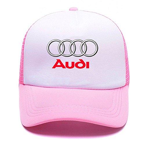 AUD Logo with Y8132E Trucker Hat Baseball Caps Gorras de Béisbol for Men Women Boy Girl Pink
