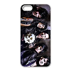 Personality women with skull Cell Phone Case for iPhone 5S by Maris's Diary