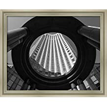 Canvas Art Framed 'Circular Perspective' by Stephane Graciet