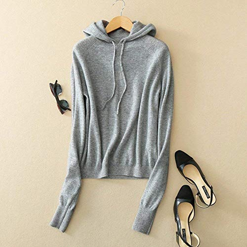 Coulisse Coulisse Coulisse Maglione Pullover Betrothales Betrothales Betrothales Betrothales Manica Casual Hoodie Maglieria Lana Accogliente Cachemire Maglione Donne Baggy Monocromo con Grau Streetwear Lunga Eleganti Hoody Outwear Autunno xAUwxSqF