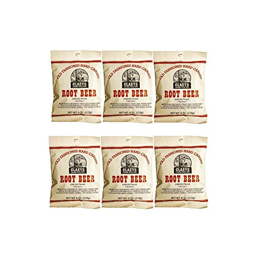 (Claeys Old Fashioned Hard Candy - 6 Pack - Root Beer - Since 1919 )
