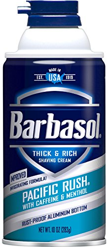 Barbasol Pacific Rush Thick & Rich Shaving Cream for Men, 10